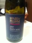 Henry of Pelham Pinot Noir 2007 - $24.95